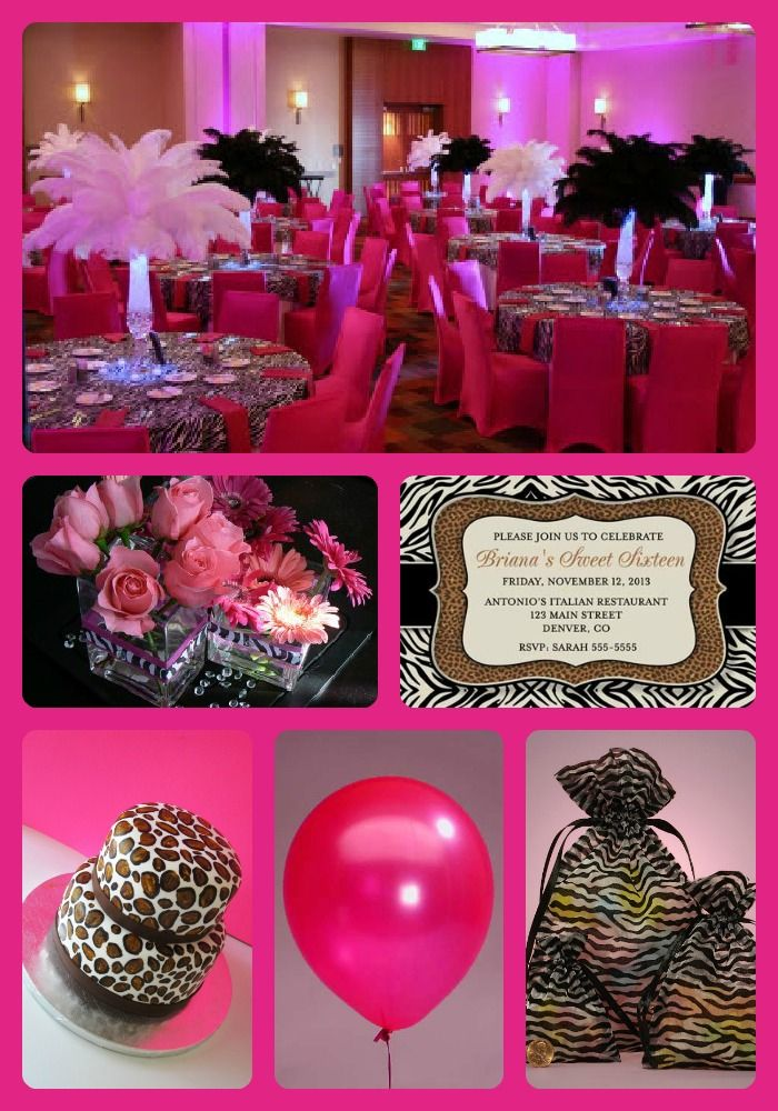 Pink And Leopard Print ...  sc 1 st  Elitflat & Cheetah Party Decoration Ideas - Elitflat
