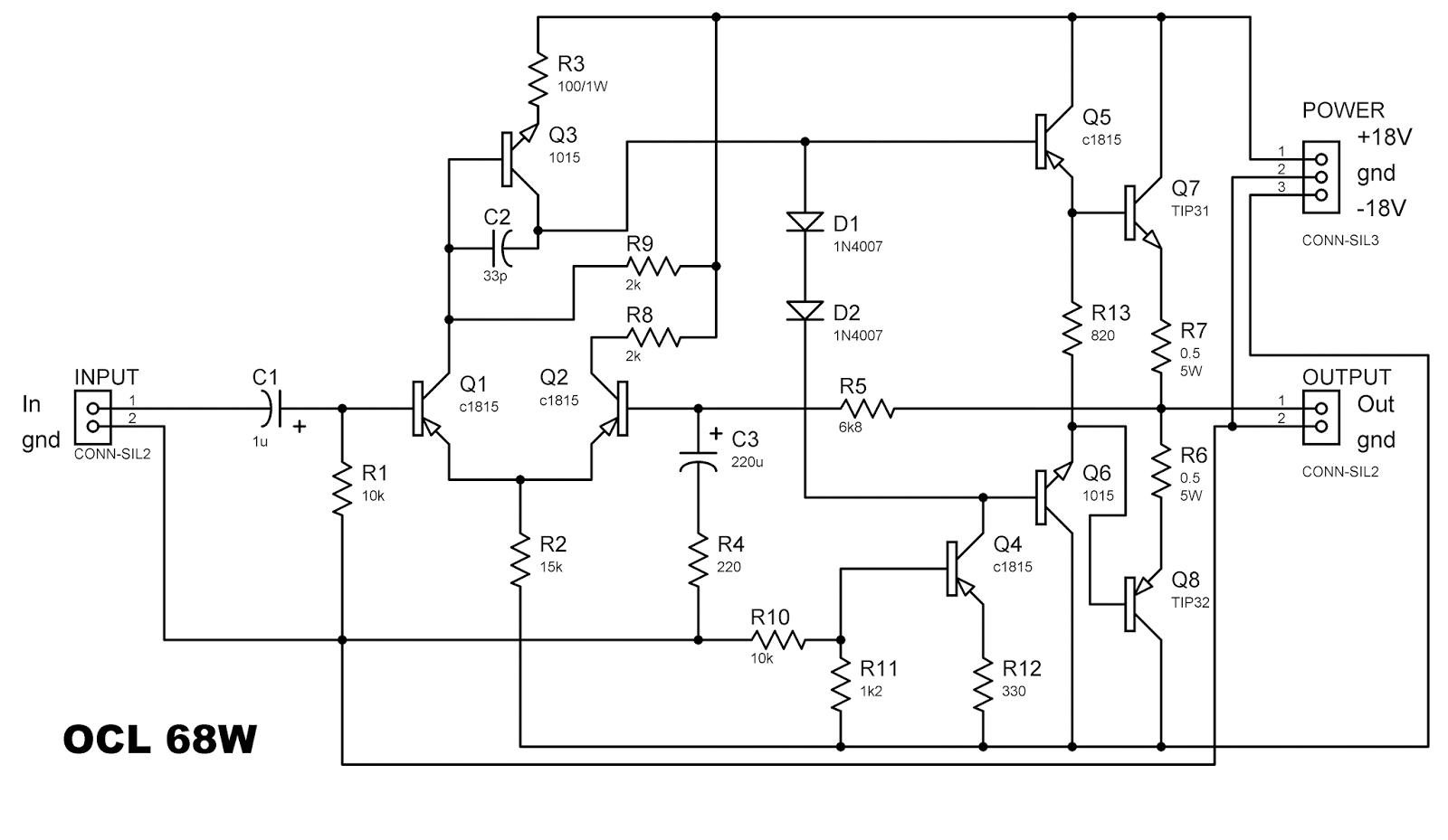 hybrid headphone amplifier circuit diagram