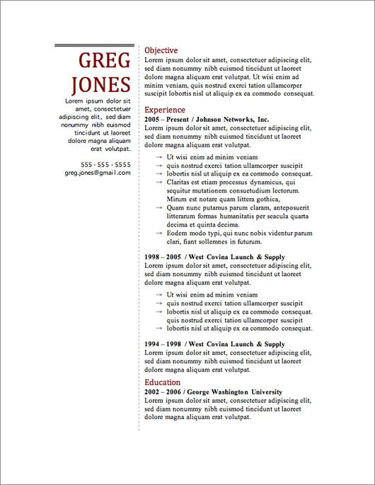 12 Resume Templates for Microsoft Word Free Download Free resume - free resume template builder