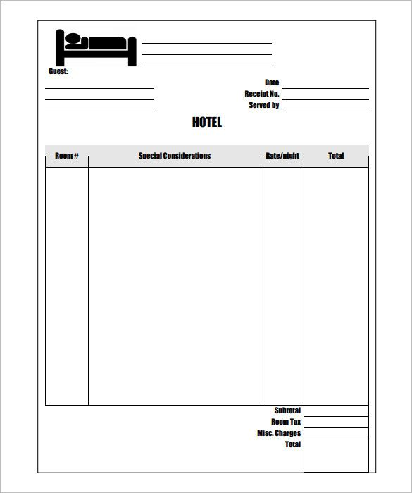Sample Hotel Invoice Template Free , Invoice Template for Mac - free invoice template online