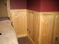 wood stain tongue groove wall designs