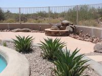 Desert Backyard Landscape Theme Swimming Pool Side Photo ...