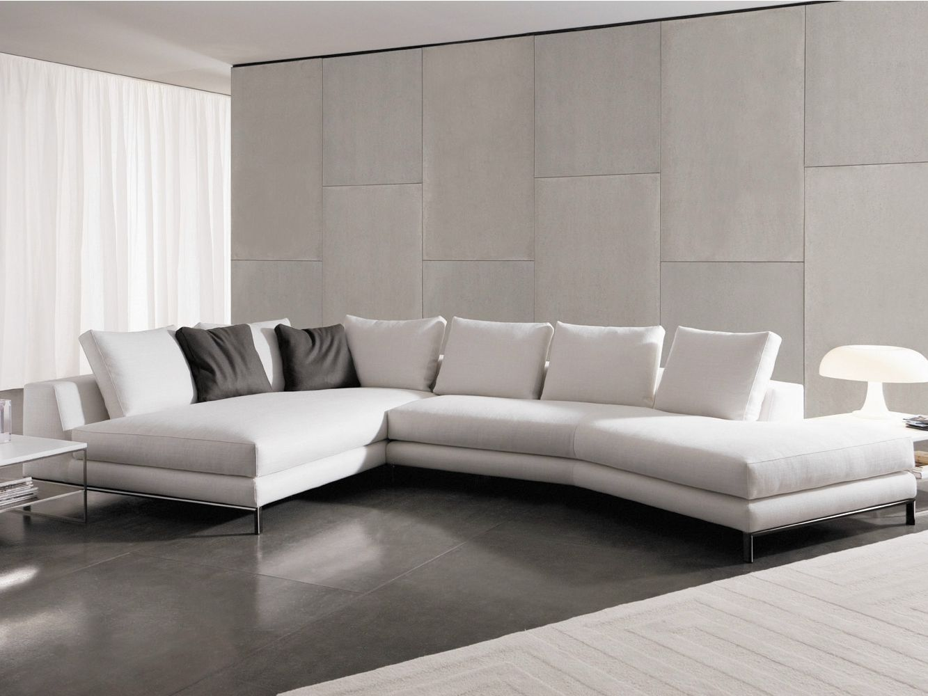 Divano Hamilton Island Minotti Sectional Upholstered Fabric Sofa Hamilton Islands