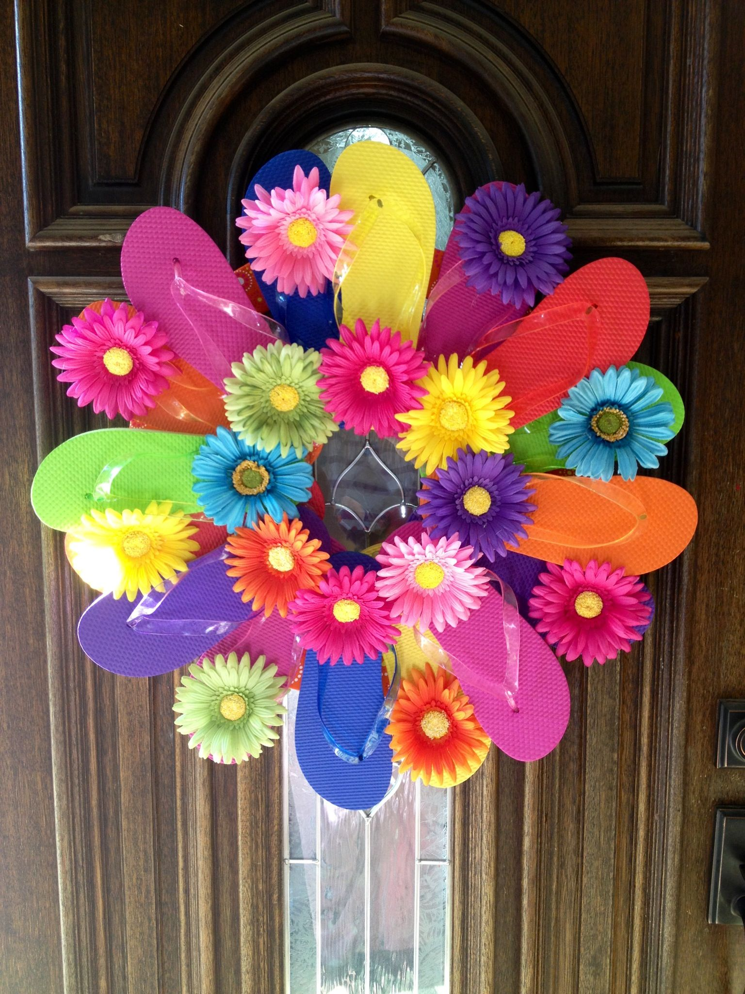 Flip Flops Basteln Flip Flop Wreath For Summer Türkränze Pinterest