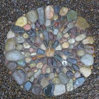 Pebble Mosaic Stepping Stone  Gardens by Jeffrey Bale ...