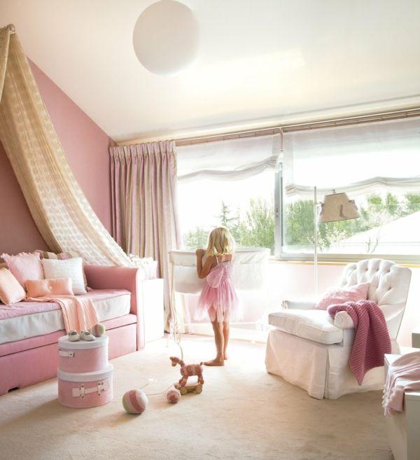 kinderzimmer gestalten mädchen himmelbett dachschräge - kinderzimmer gestalten madchen