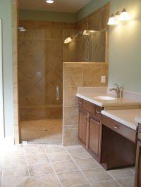 Walk In Shower Doors | Corner Walk in Tile Shower with ...
