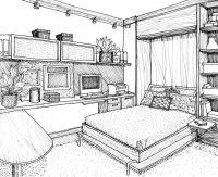 Bedroom Drawing Ideas Simple Design 1 On Living Room ...