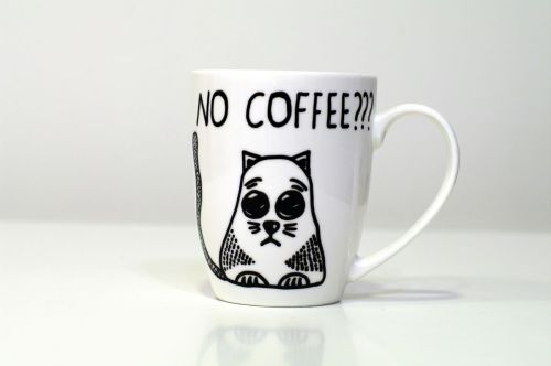 Medium Of Handmade Cat Mug