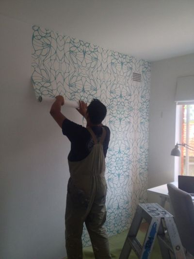 Removable (non-vinyl) wallpaper for renters: proof it exists | Vinyls, Laundry rooms and Laundry
