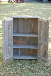 Liquor Cabinet Recycled Wood Cabinet. Whiskey Storage ...