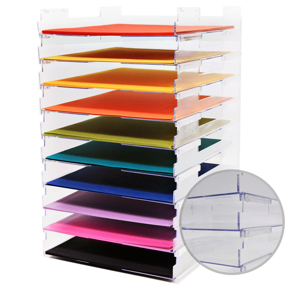 Umbrella crafts 12 x 12 stackable paper trays no lip 10 pack