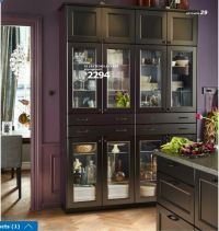 Ikea 2016 SEKTION wall cabinets with LAXARBY black-brown ...