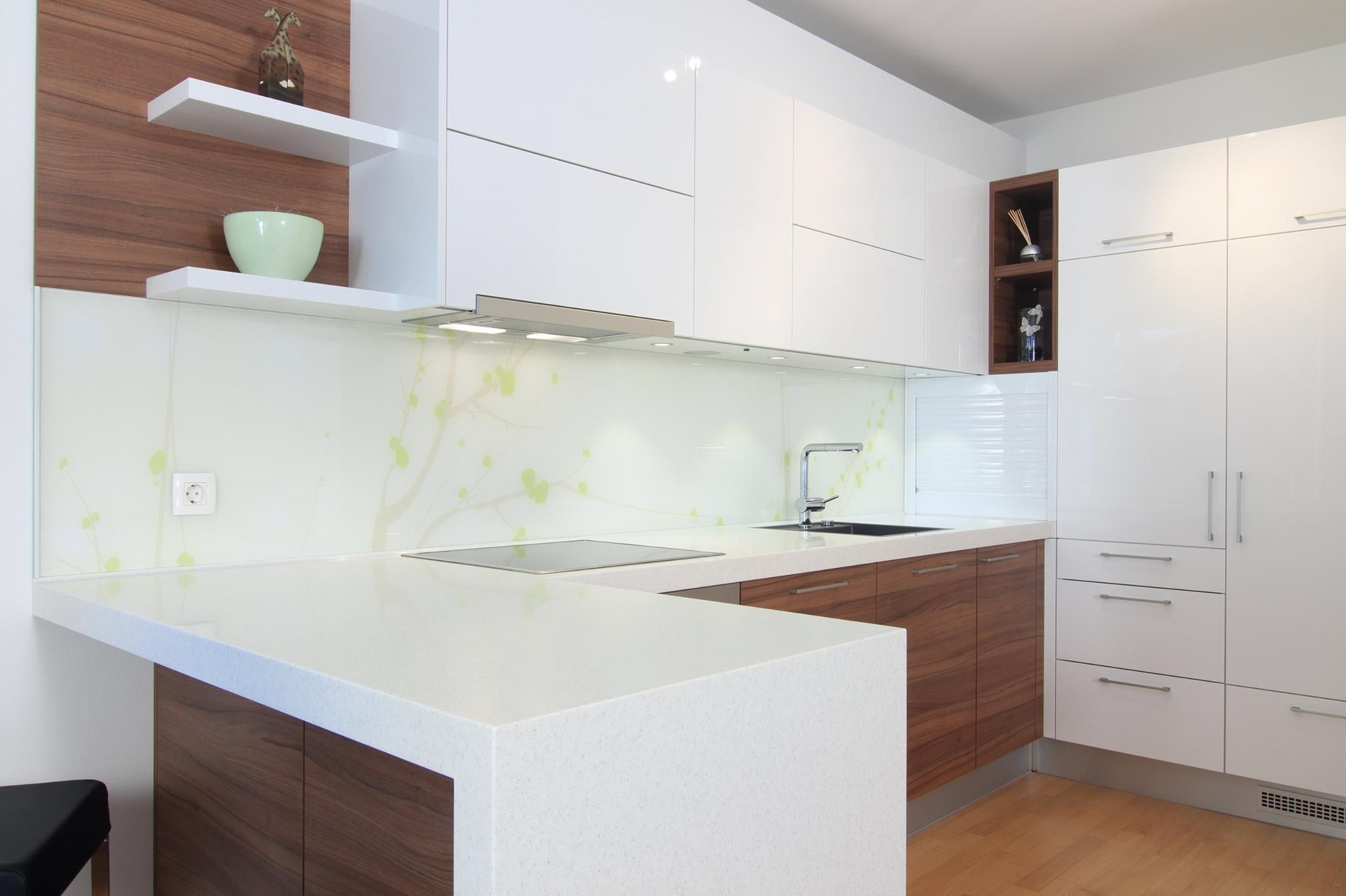 White And Wood Kitchen White Wood Texture Modern Kitchen Modern Kitchen
