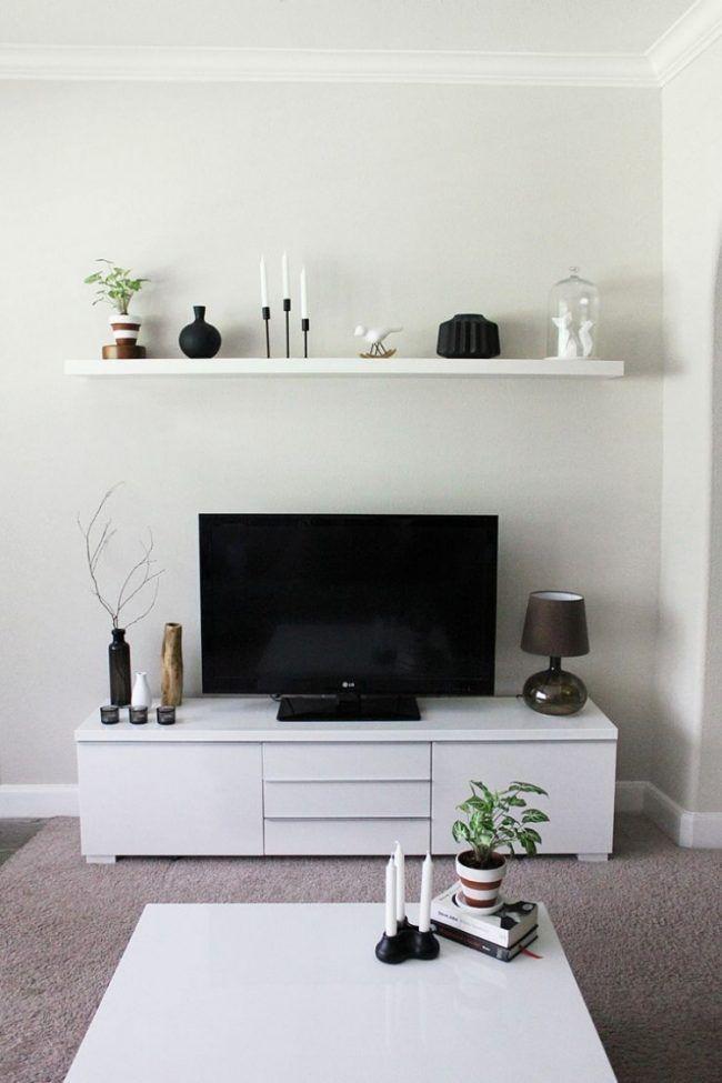 ikea-bilderleiste-ribba-wohnzimmer-regal-weiss wandgestaltung - ikea wohnzimmer weis