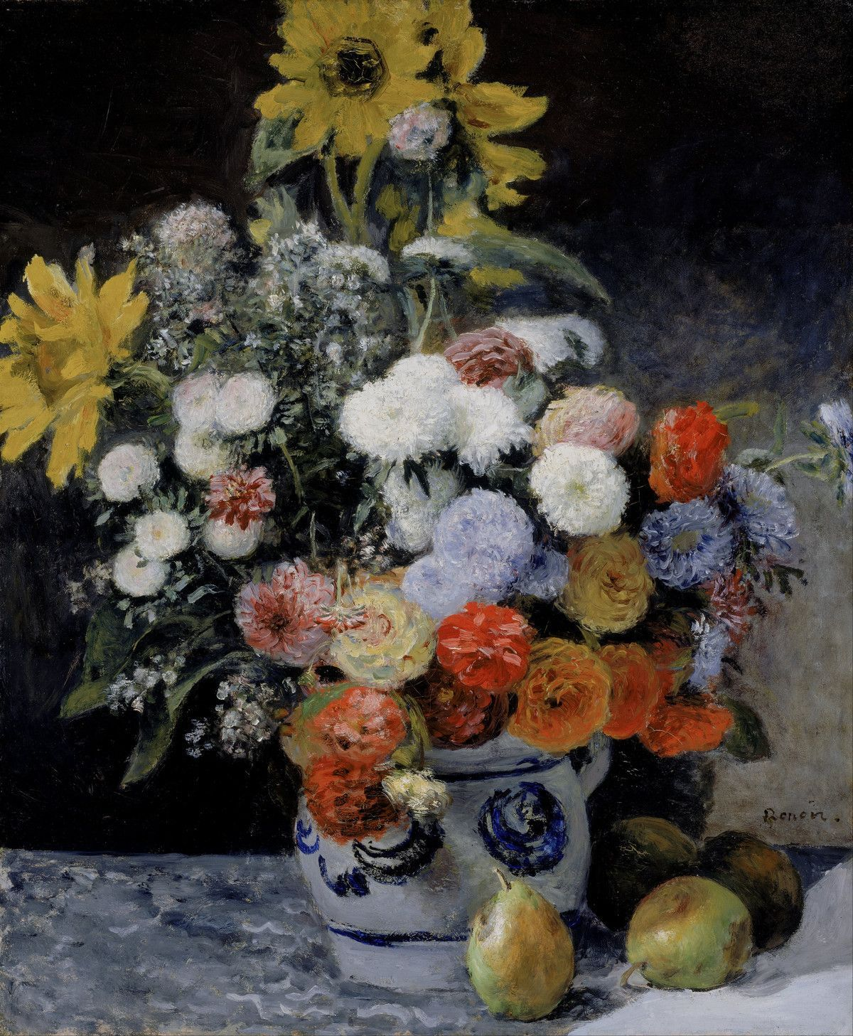 Pinturas Francesas Pierre Auguste Renoir Poster Mixed Flowers In An Earthenware Pot