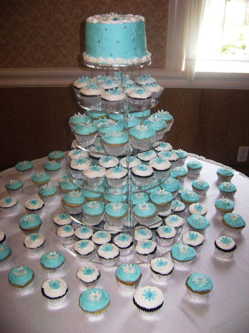 wedding cupcake ideas blue and white wedding ideas Cupcake Wedding blue and white