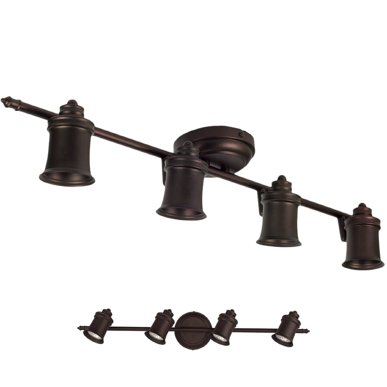 Wall Mount Track Lighting Oil Rubbed Bronze 4 Light Track Lighting Wall And Ceiling