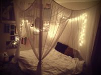 Bedroom with lighted canopy tumblr bedroom canopy twinkle ...