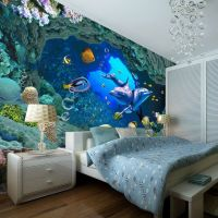 3D Underwater World Wallpaper Custom Wall Mural Ocean ...