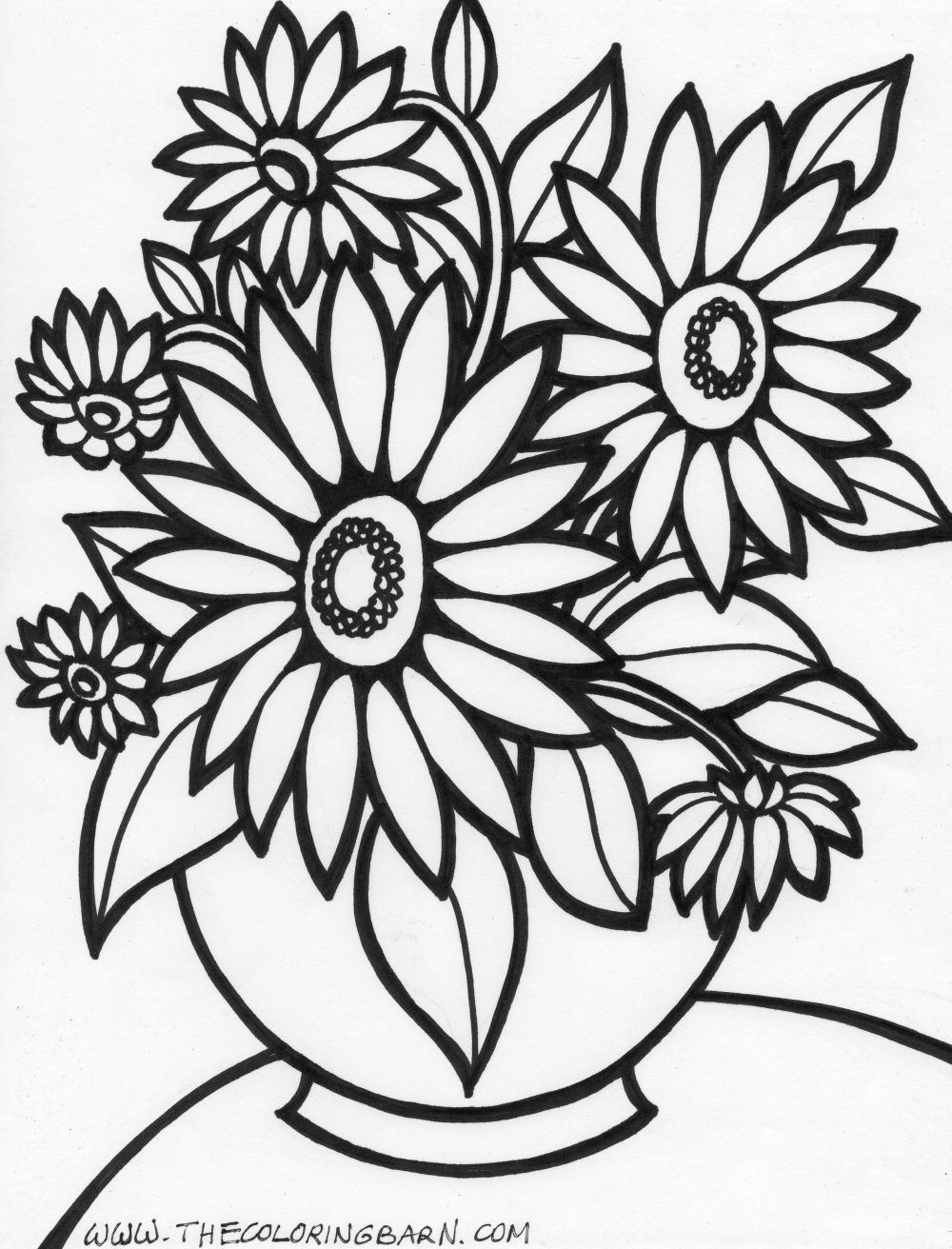 Colouring in pictures of flowers - Download
