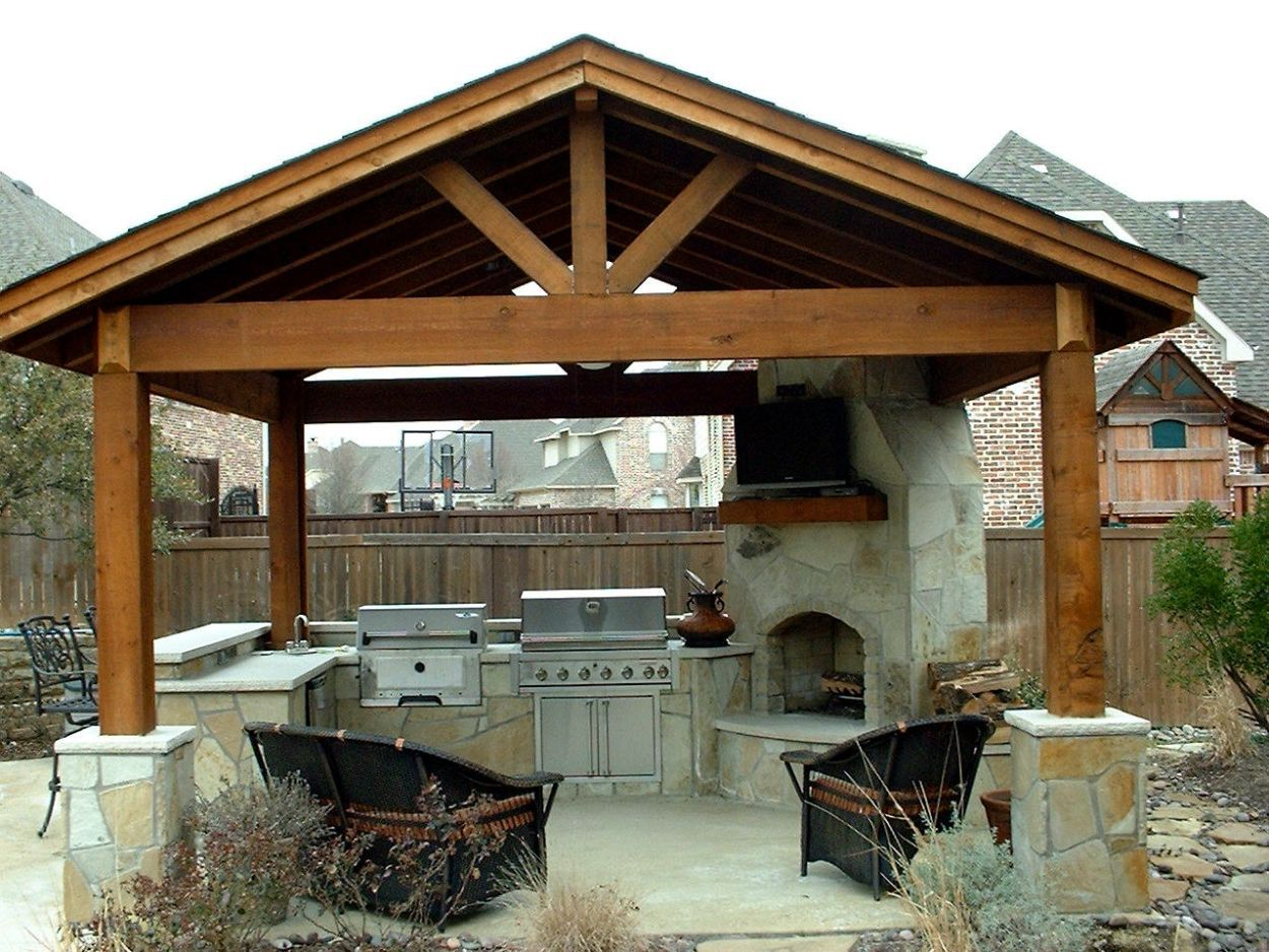 Covered Outdoor Kitchen Kitchen , Incredible Outdoor Kitchen Ideas; Extra Charming