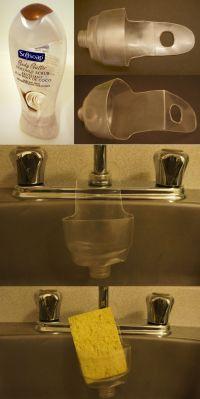 Kitchen sink sponge holder from plastic bottle. | Holders ...
