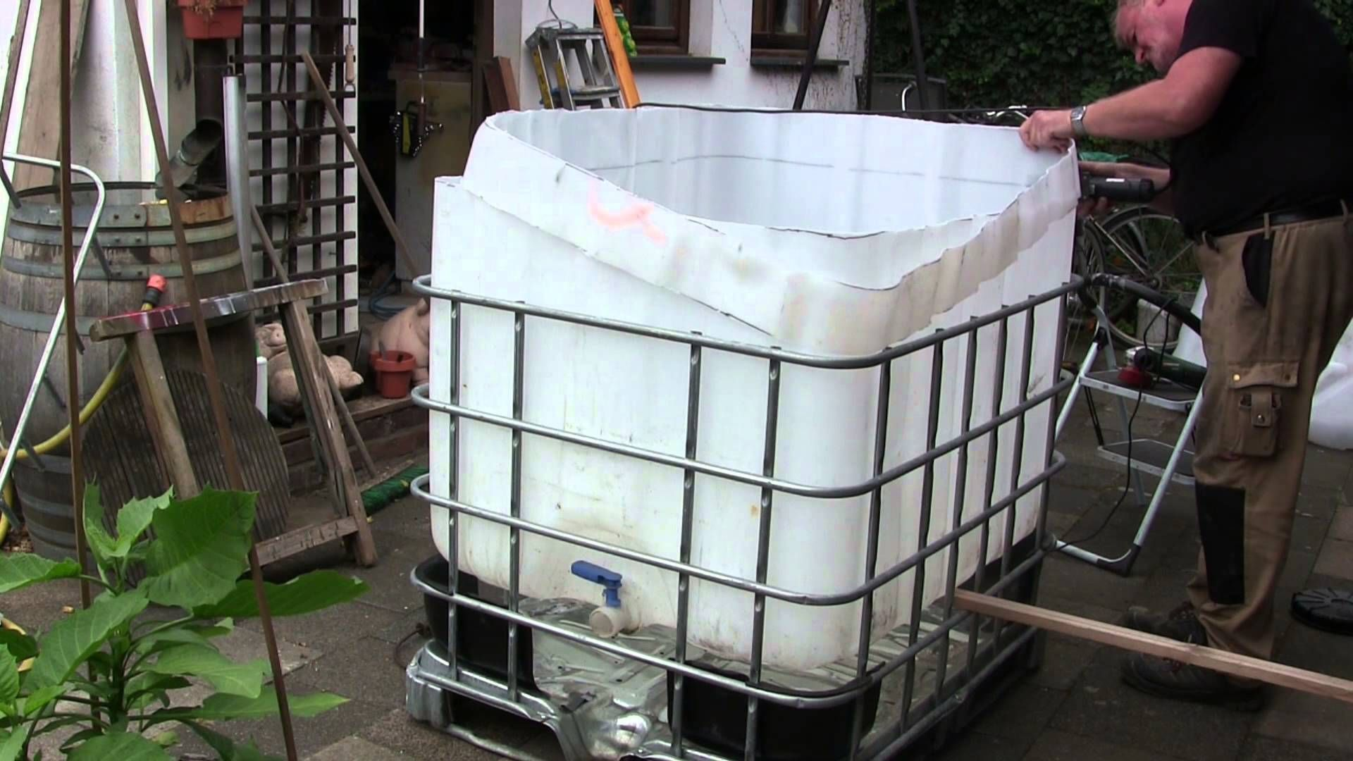 Poolheizung Diy Video Pool Aus Ibc Tank Container Selber Bauen So