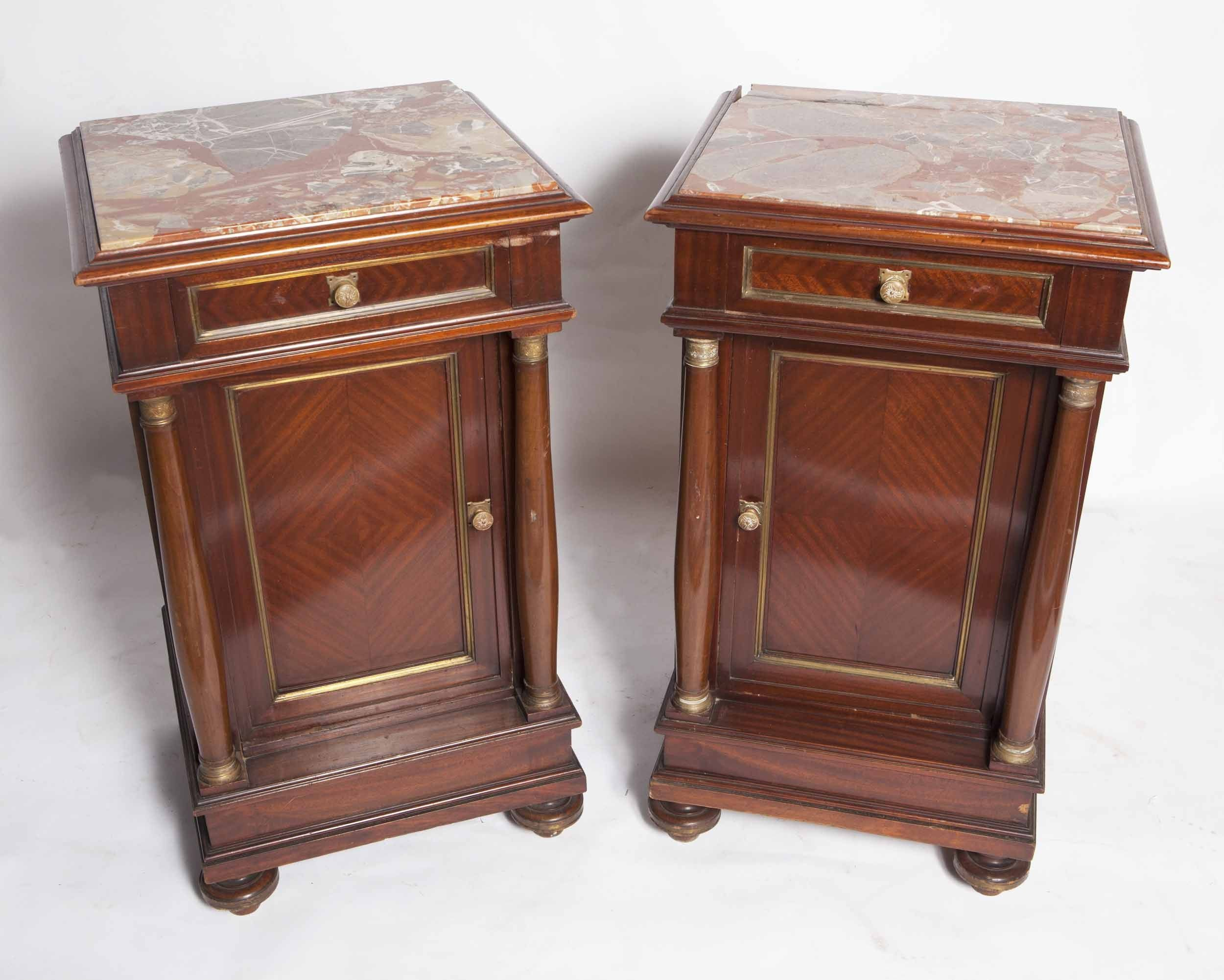 Antique Bedside Tables Unusual Century French Second Empire Antique Bedside Table