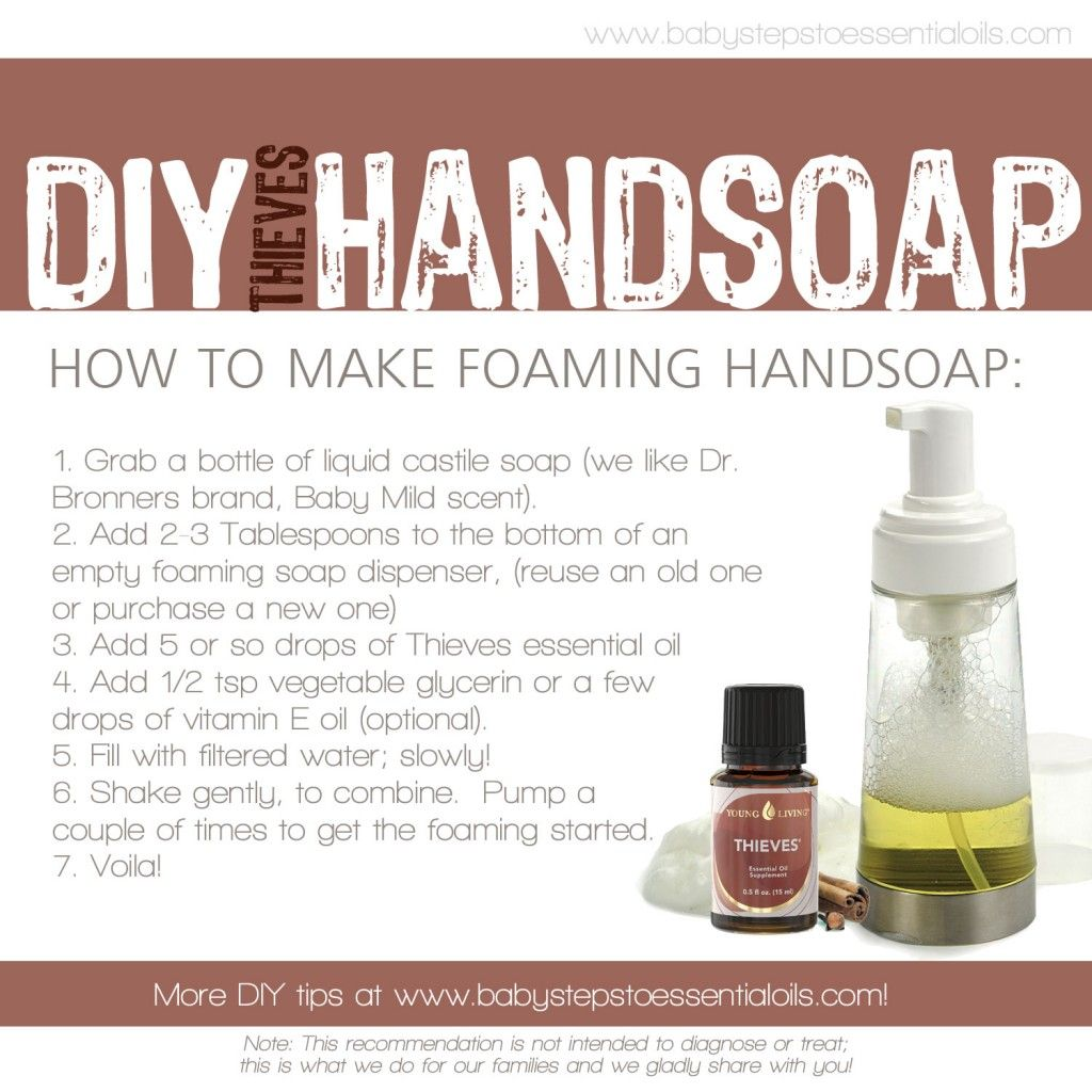 Diy Soap With Essential Oils Diy Thieves Foaming Hand Soap With Young Living