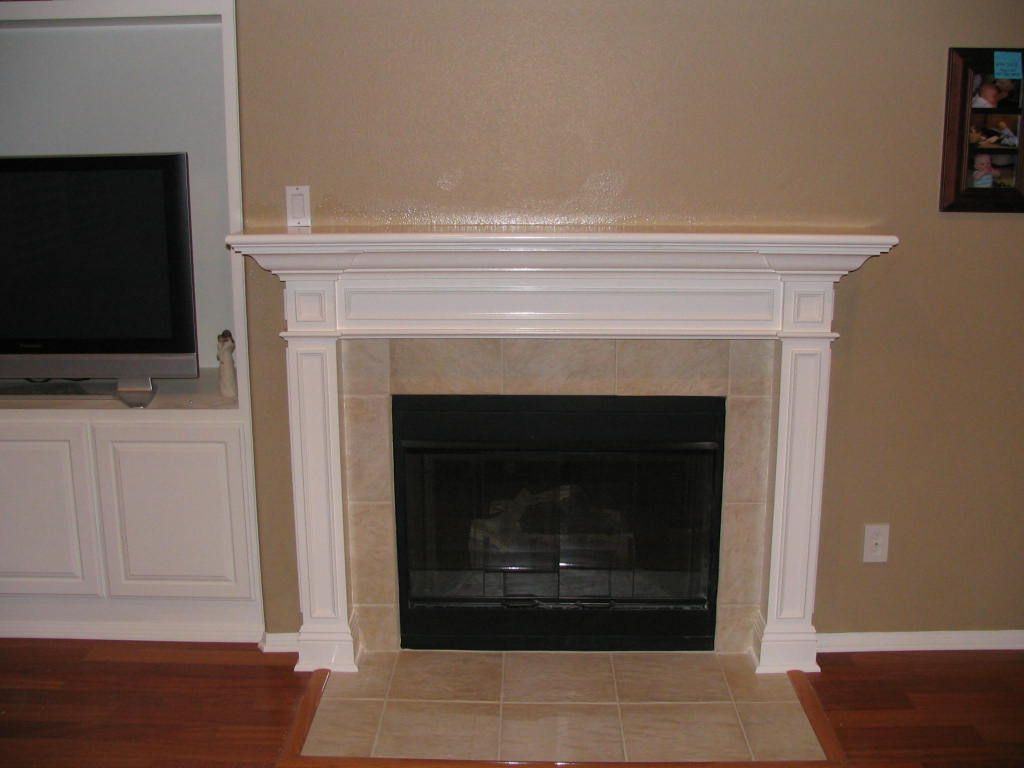 Fireplace Wall Mantels New Fireplace Design With White Mantel And Cream Wall