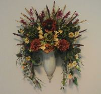 Tuscan Floral Wall Sconce, Fall Wall Planter,Wall Pocket