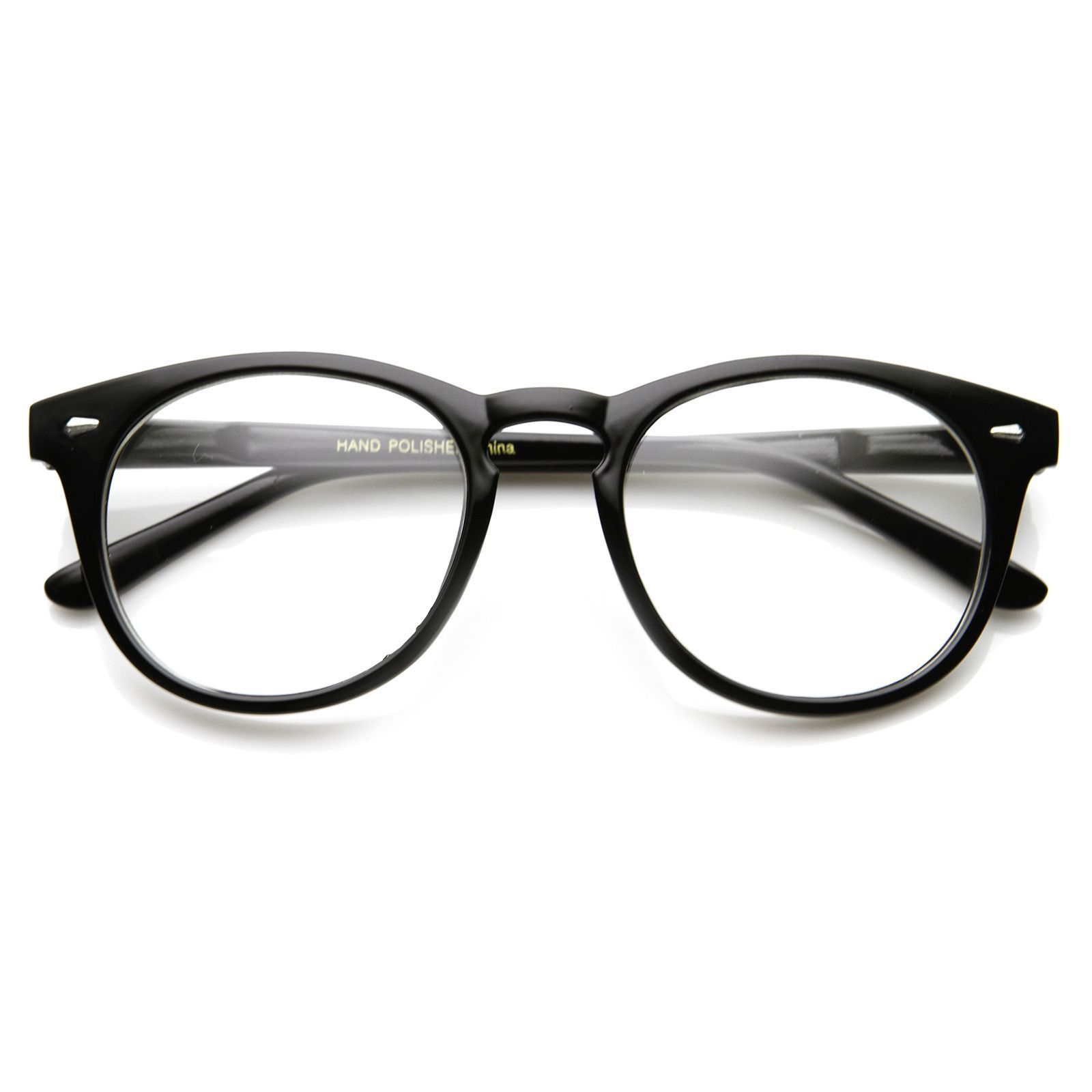 Classic vintage era round p3 clear lens optical glasses 8712