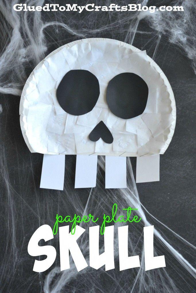 Paper Plate Skull Kid Craft Skeleton Craft Skeletons