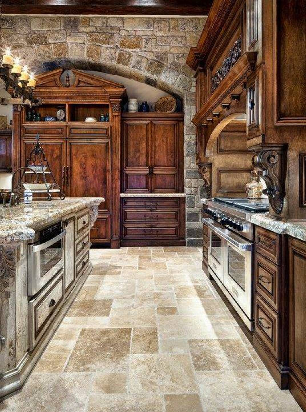 Antique Looking Kitchen Cabinets Old World Looking Kitchens Old World Tuscan Themed
