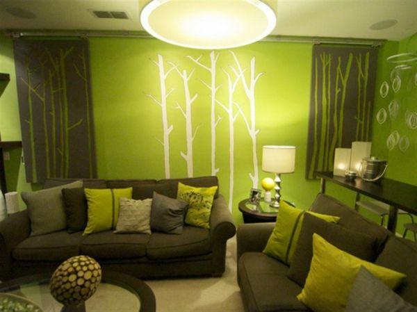 coole farben für wohnzimmer grün wand tatto natur Future Home - farben fur wande