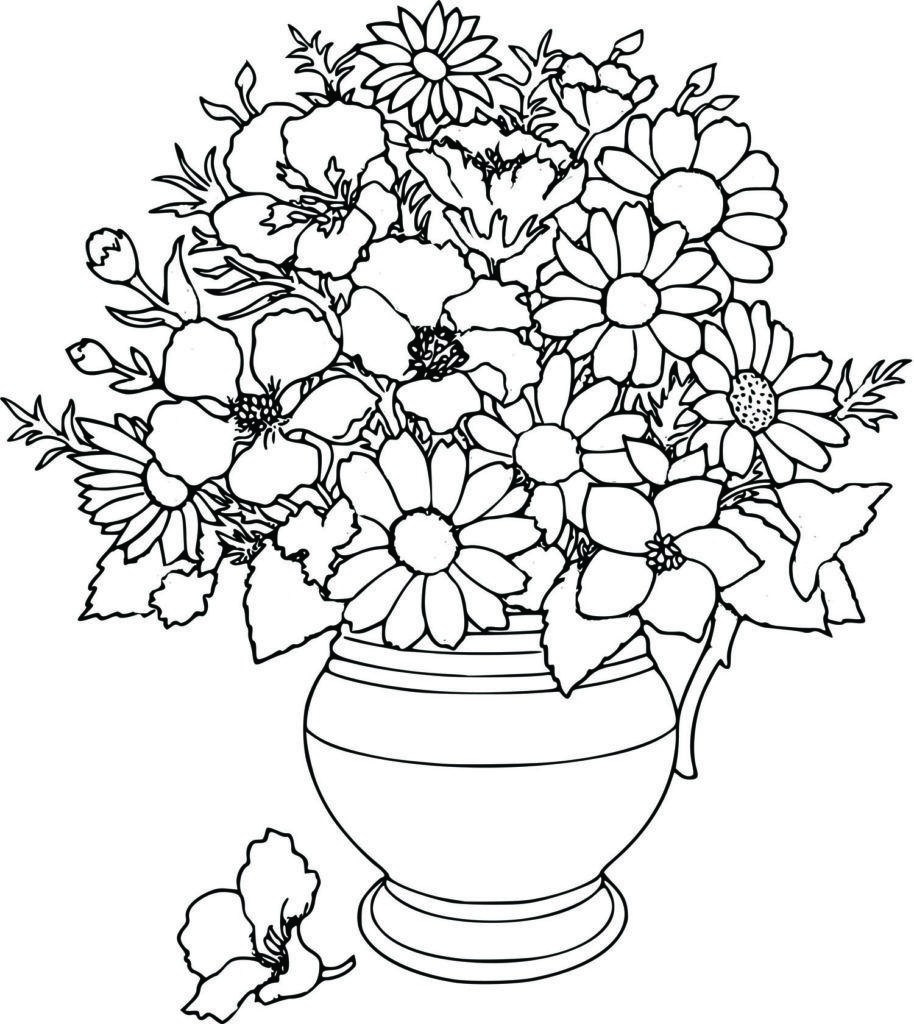 Coloring pages amusing flower coloring pages flowers coloring pages flower coloring pages for adults flower