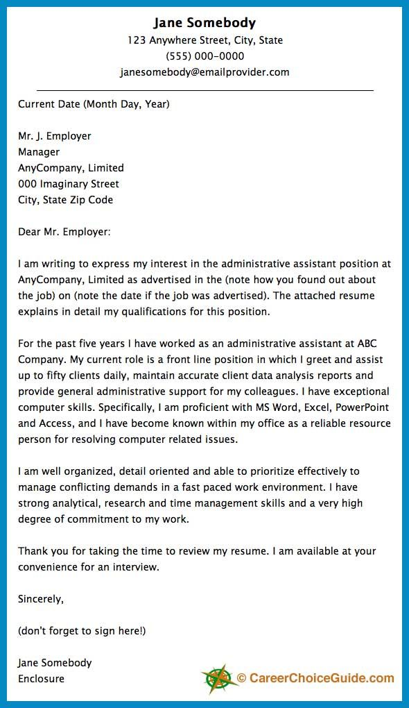 Here is a cover letter sample to give you some ideas and - good cover letters for resume