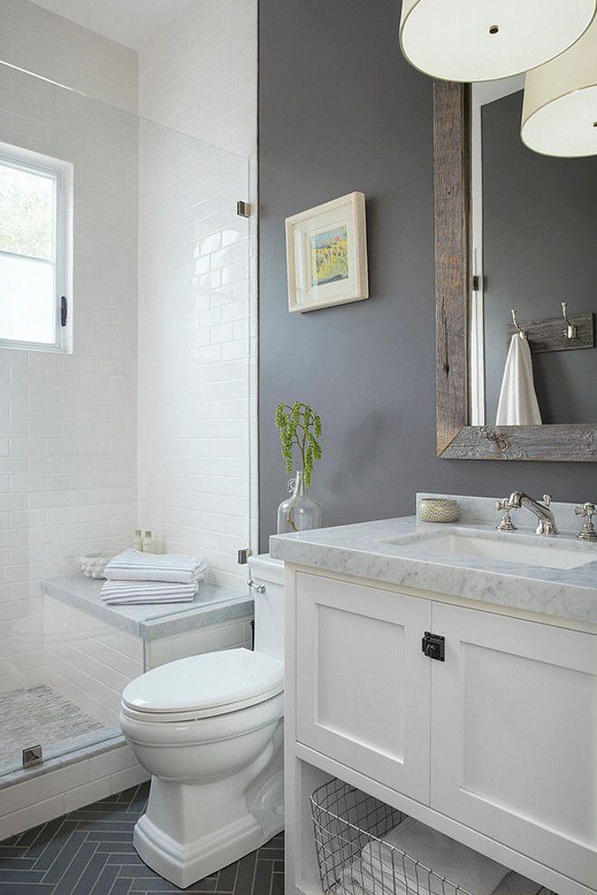 20 Stunning Small Bathroom Designs Grey white bathrooms, White - small bathroom paint ideas