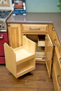 The blind corner cabinet above makes better use of ...