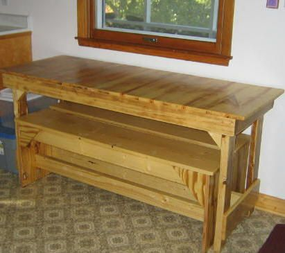 Small Kitchen Tables - Free Trestle Table Plans *For the Home - kitchen table designs