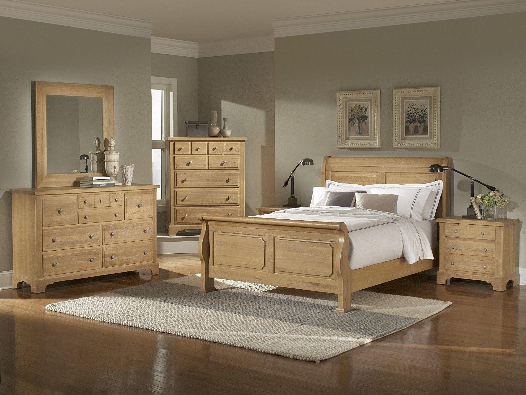 Oak bedroom furniture sets washed oak queen sleigh bedroom group a at