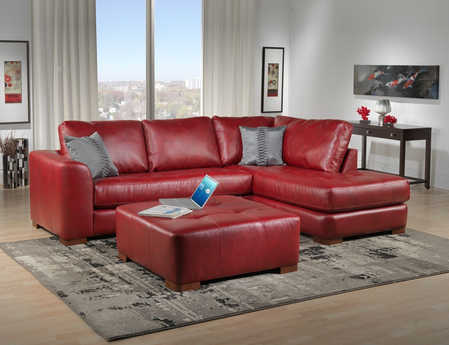 Condo Couches I Want A Red Leather Couch Humble Abode Pinterest