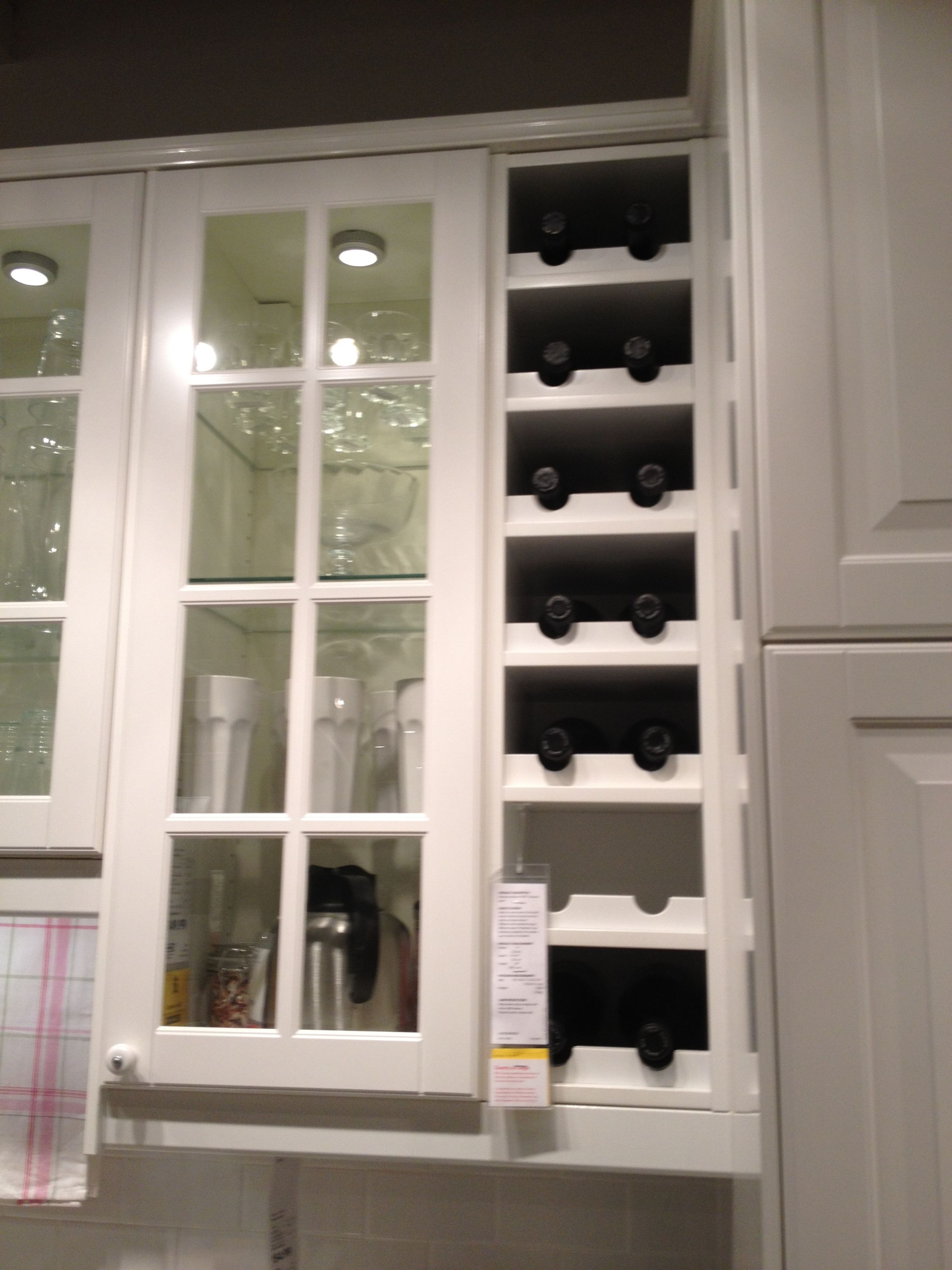 Kitchen Wine Cabinet Built In Wine Rack From Ikea For The Home Pinterest