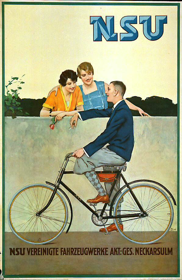 Poster Fahrrad Nsu Fahrrad / Bicycle, 1930. Germany | Just Poster