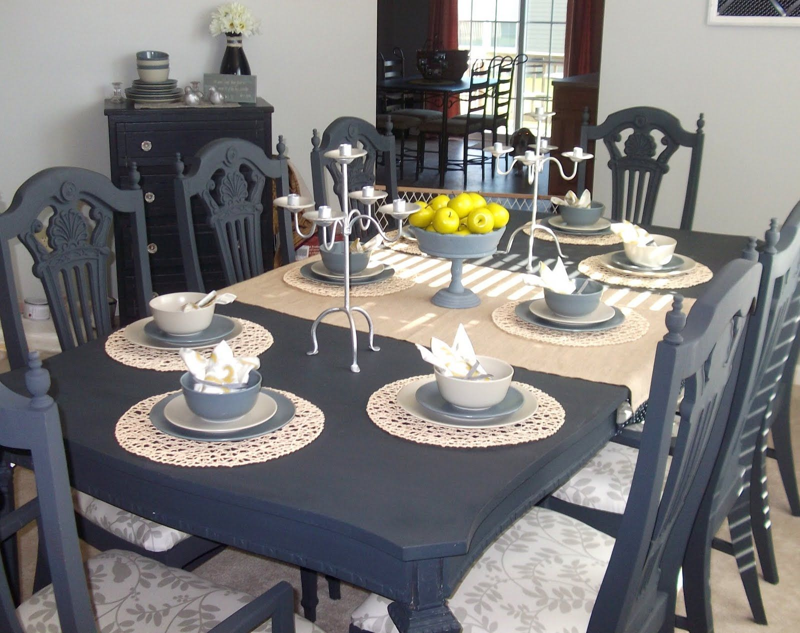 painting kitchen table paint dining table just love this dining table that Rachel from Absolutely Loving My
