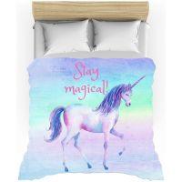 Stay Magical, Rainbow, Unicorn, Duvet Cover, Twin Duvet ...