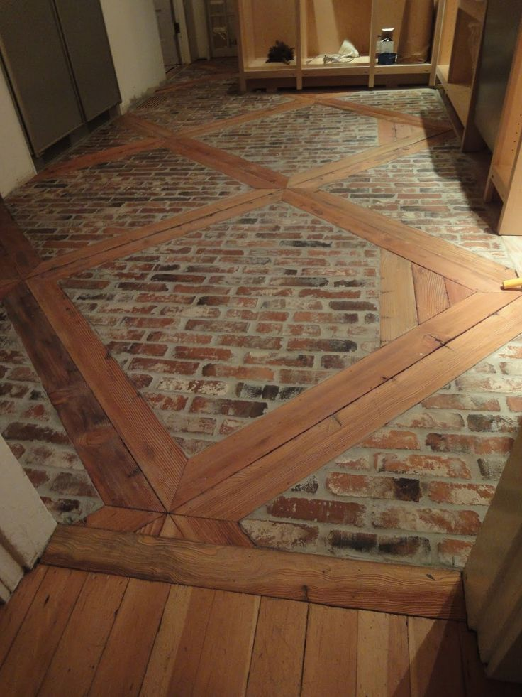 Diy How To Install This Brick Floor Using 2 X 439s And