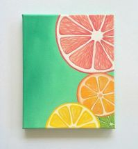 Colorful Wall art, Bright wall art, Fruit painting, citrus ...