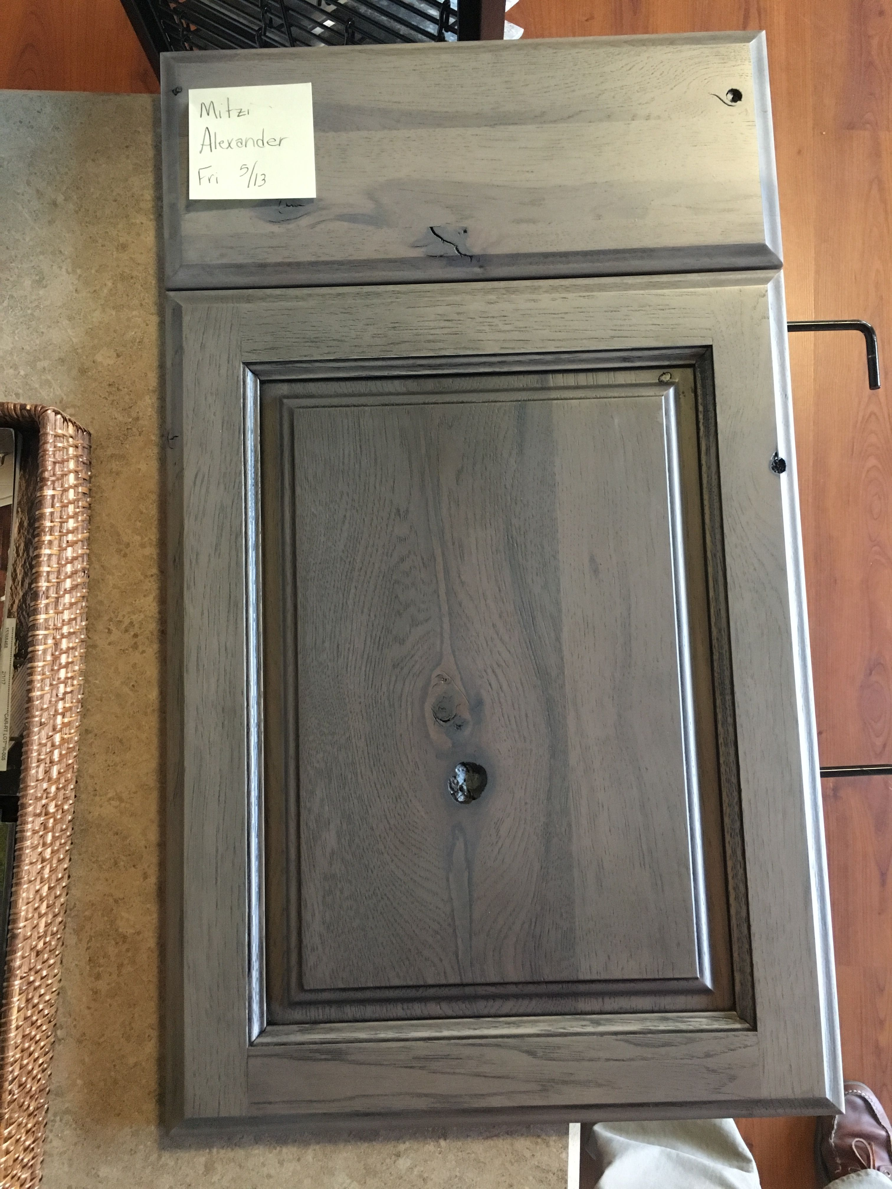 Marsh Kitchen Cabinets Starmark Rustic Hickory Accord Panel Driftwood Finish